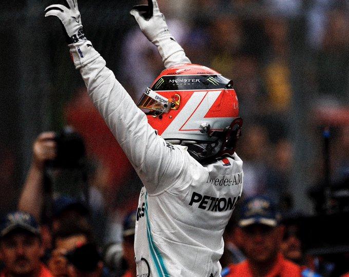 Hamilton logró el triunfo en Mónaco. Foto: Twitter Hamilton
