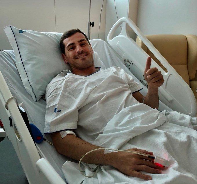 Se recupera Iker Casillas. Foto: Twitter