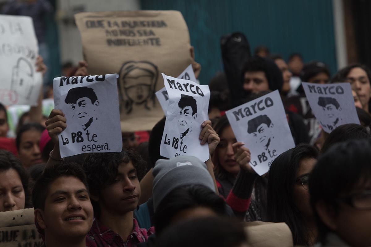 Marco Antonio Sánchez, desaparición forzada, policía, Metrobús, marchas,