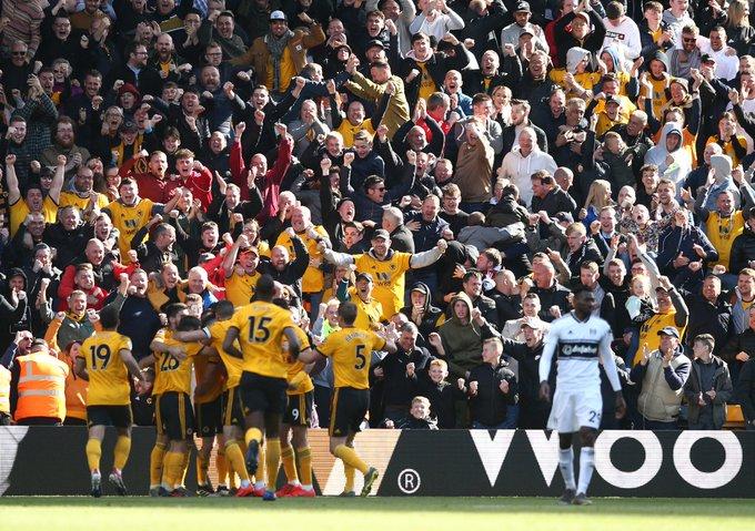 Wolves ganó al Fulham. Foto: Twitter