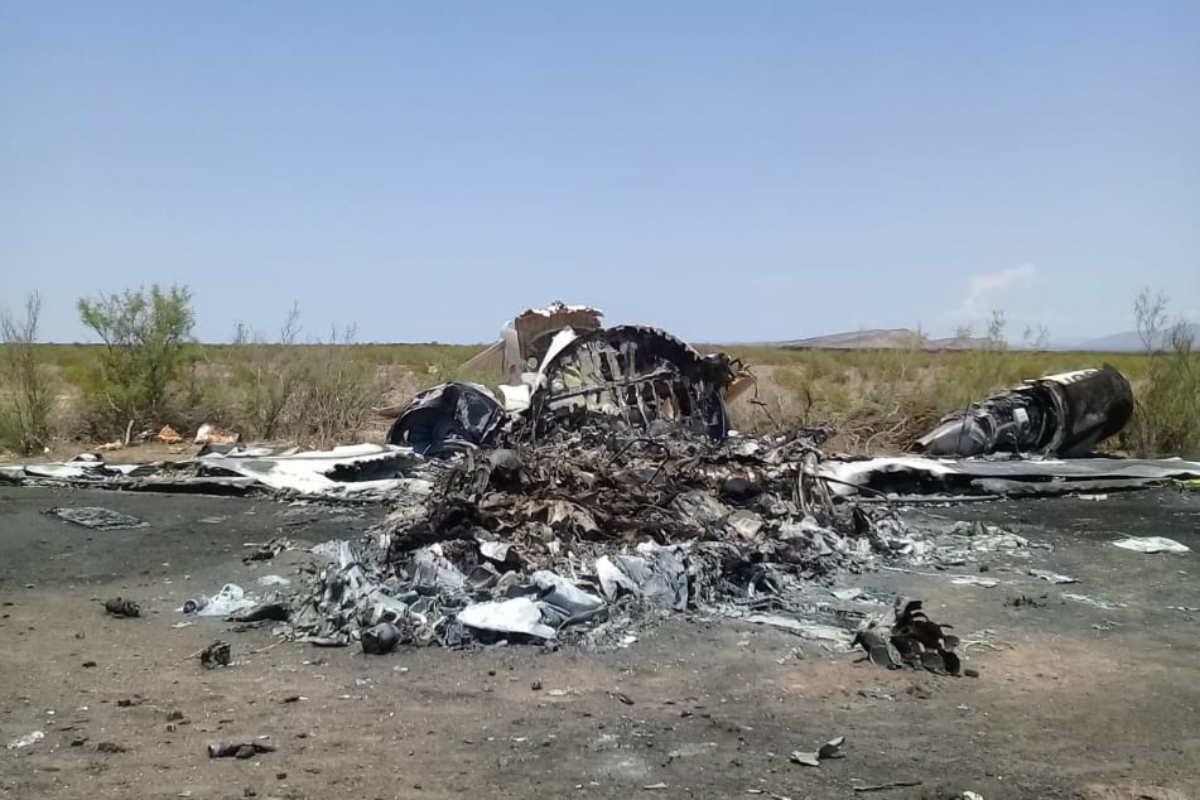 Restos del avión siniestrado procedente de Las Vegas (Notimex)