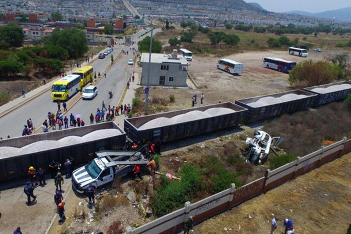 Tren, combi, vías, Edomex, pasajeros, El Dorado, municipio Huehuetoca,