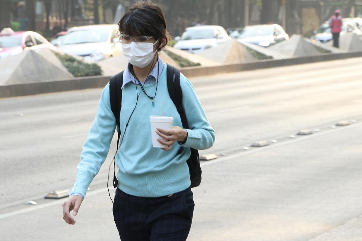 contingencia ambiental, calles, contaminación, CDMX, Cubrebocas,