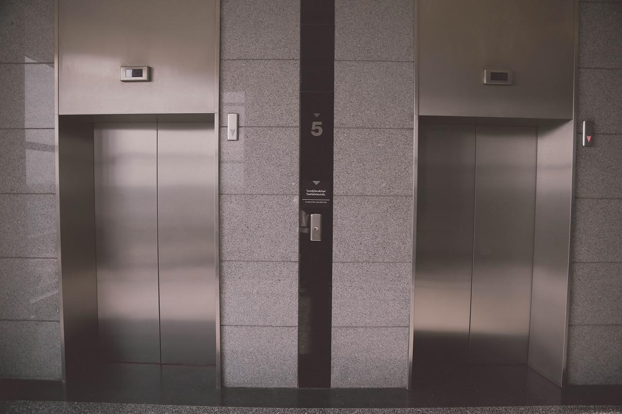 elevador, india, mujer