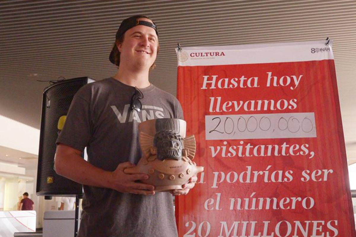 Templo Mayor, turista estadounidense, Jason Szabatura,Instituto Nacional de Antropología e Historia, 20 millones, Museo,