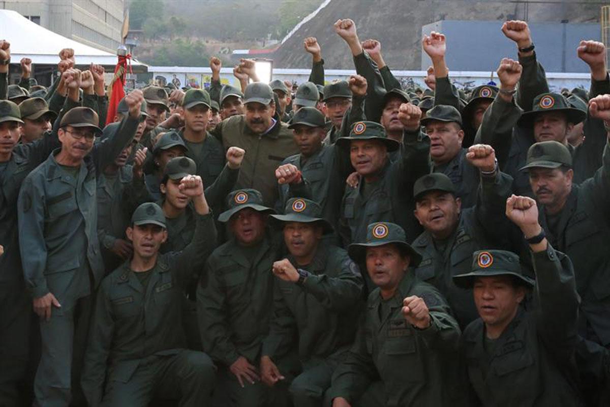 Nicolás Maduro, Venezuela, Caracas, Juan Guaidó, Fuerza Armada Nacional Bolivariana, Golpe militar,