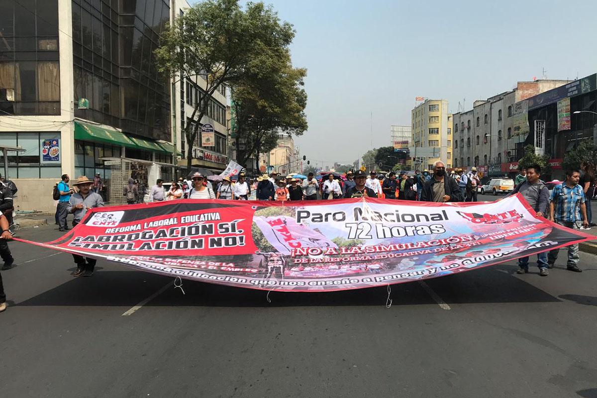 Día del Maestro, maestros, docentes, marchas, contingencia ambiental, Reforma Educativa,