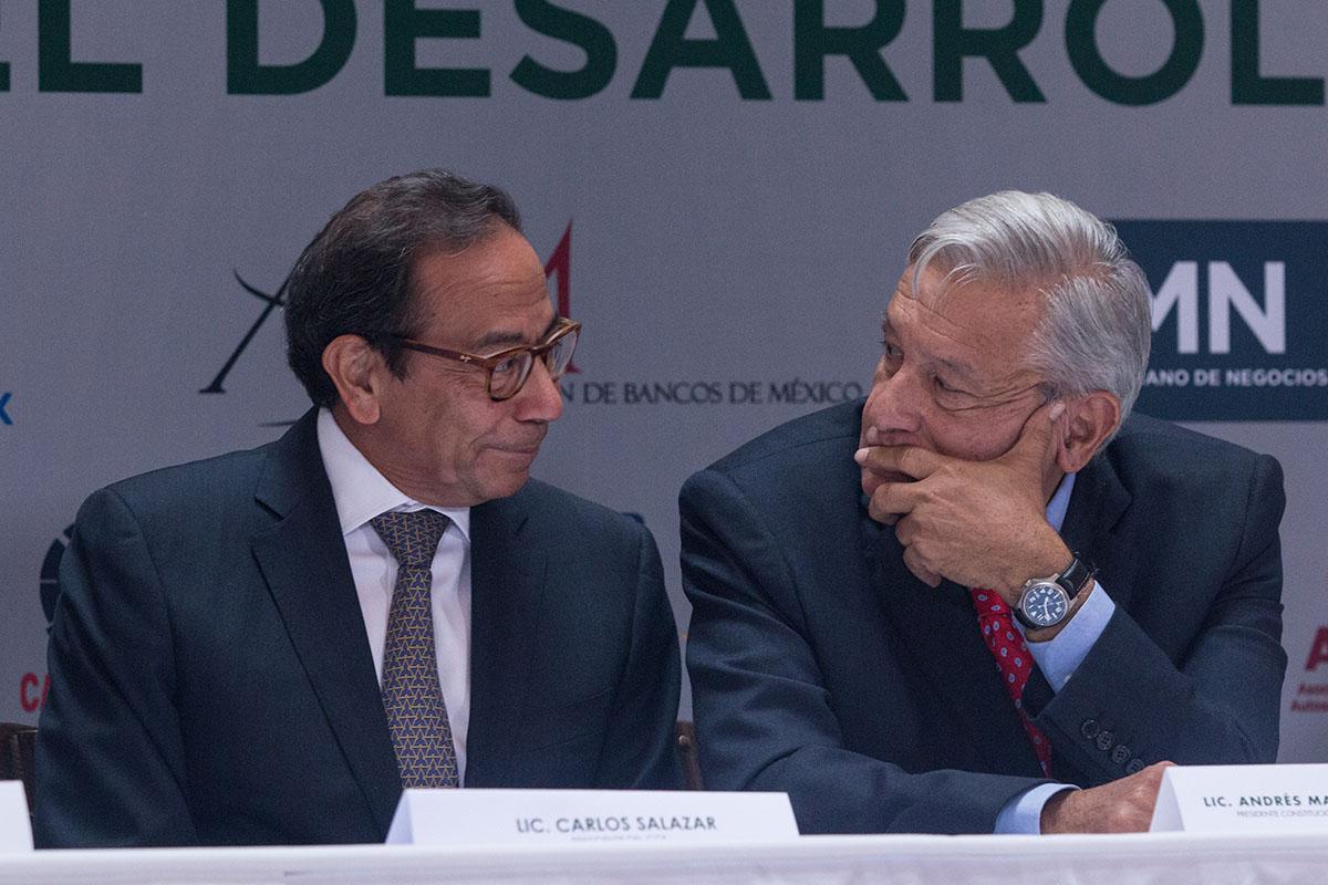 empresarios, Consejo Coordinador Empresarial, inversiones, Carlos Salazar Lomelín, AMLO,