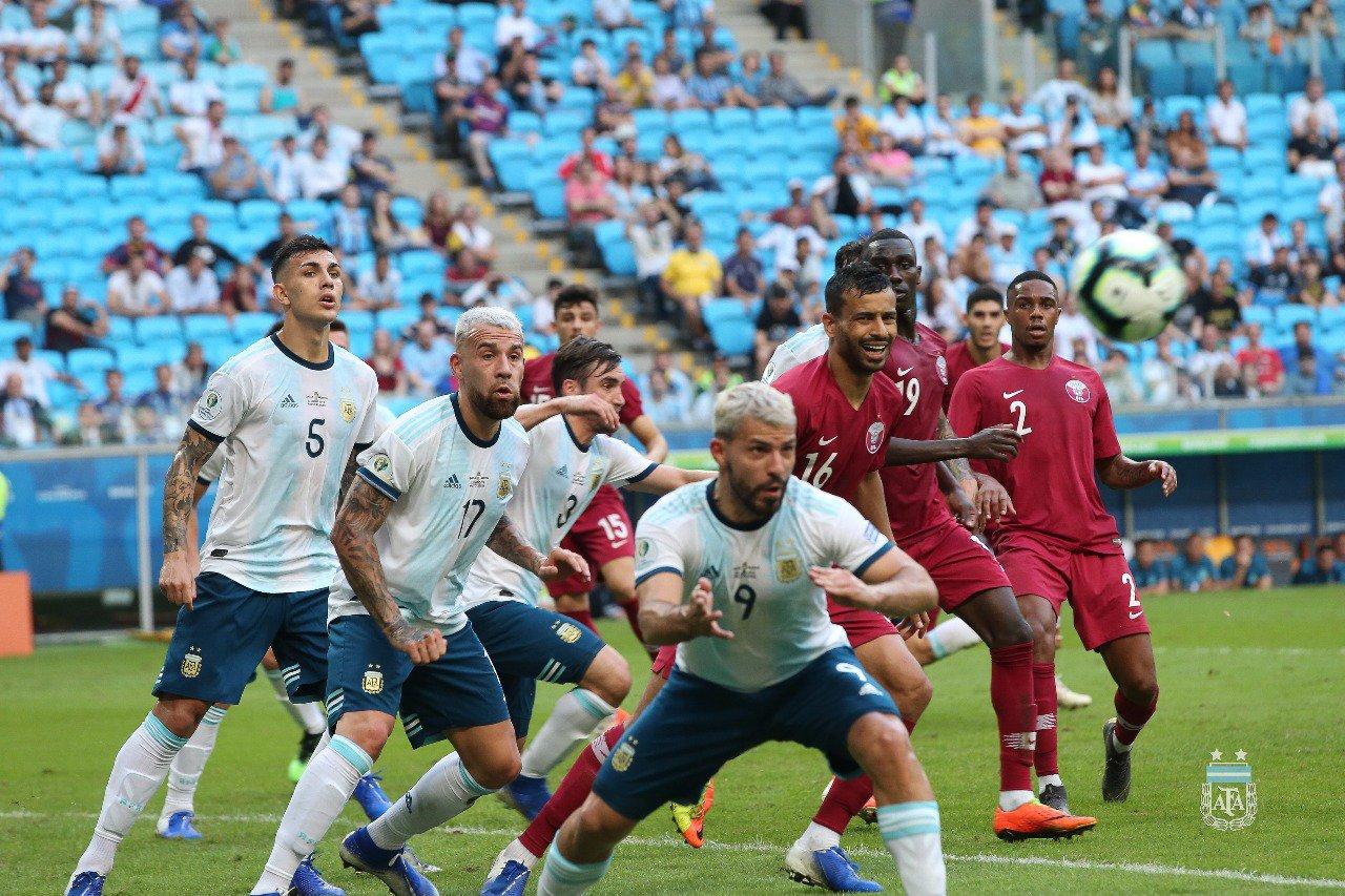 Argentina ganó a catar y clasificó. Foto: Twitter