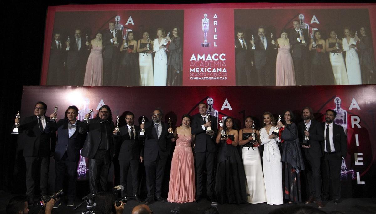 Roma ganó 10 estatuillas en la 61 entrega del premio Ariel, la cinta dirigida por Alfonso Cuarón, quien no acudió/FOTO: CUARTOSCURO.COM