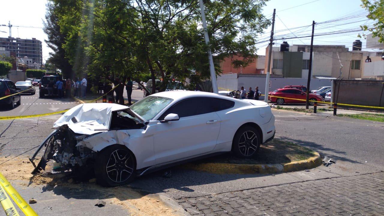 Así quedó el auto de Joao Maleck. Foto: Twitter