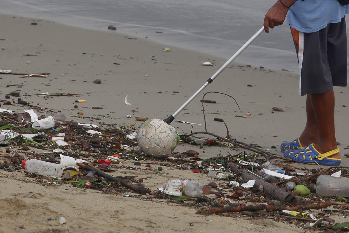 tenis, basura, playas, Atlántico, contenedores, mar,
