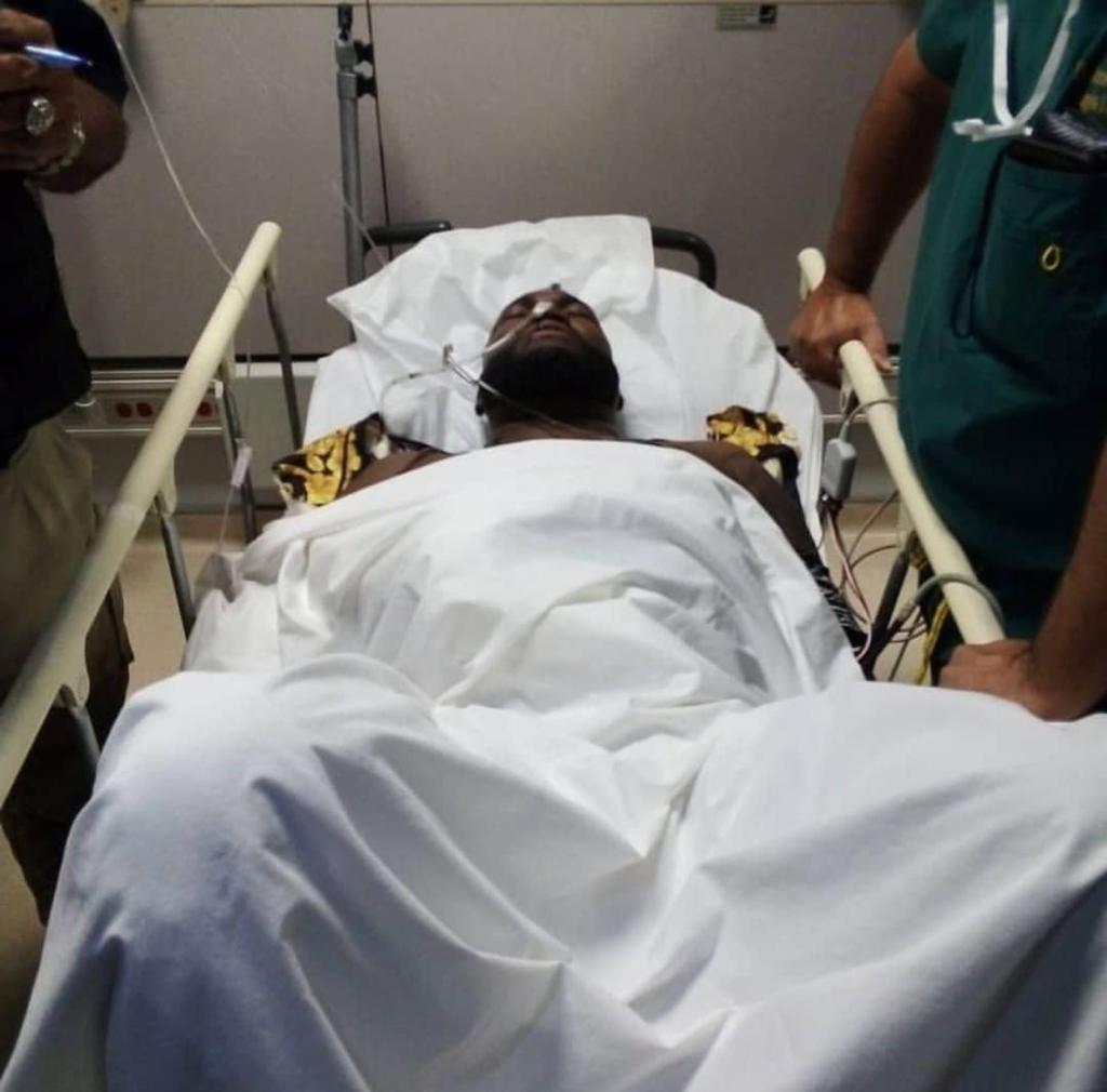 Herido de bala 'Big Papi'. Foto: Twitter