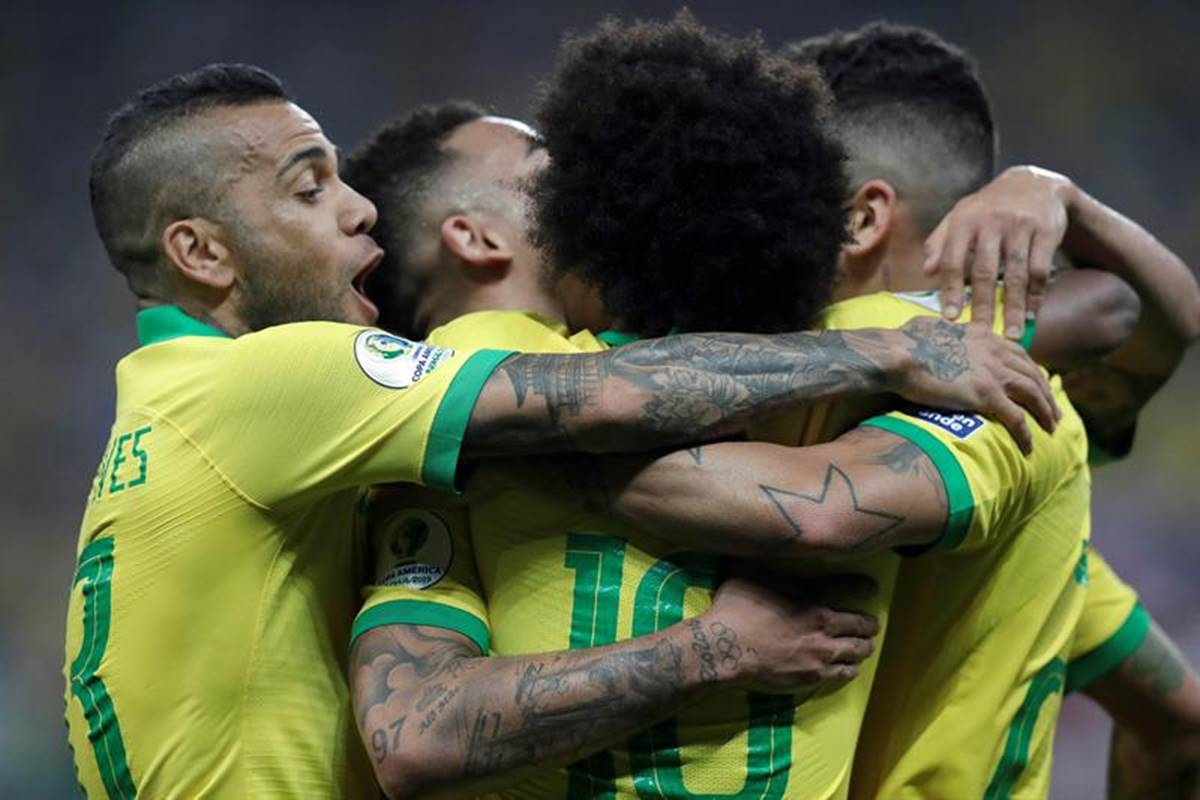 Brasil goleó a Perú. Foto: EFE