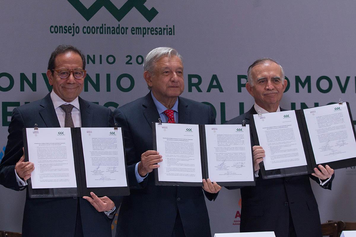 Consejo Coordinador Empresarial, Carlos Salazar Lomelín, Alfonso Romo, rondas petroleras,