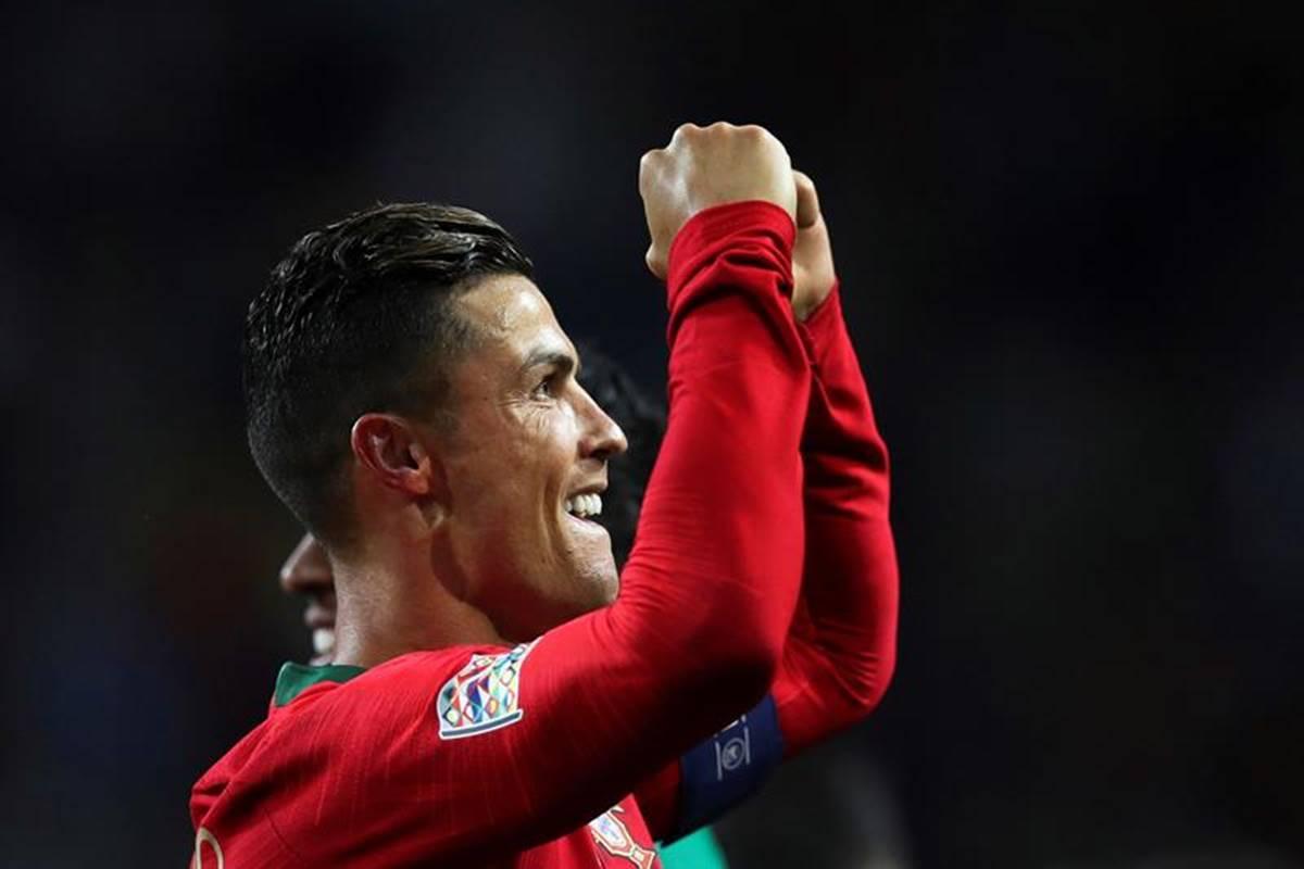 Triplete de Cristiano Ronaldo. Foto: EFE