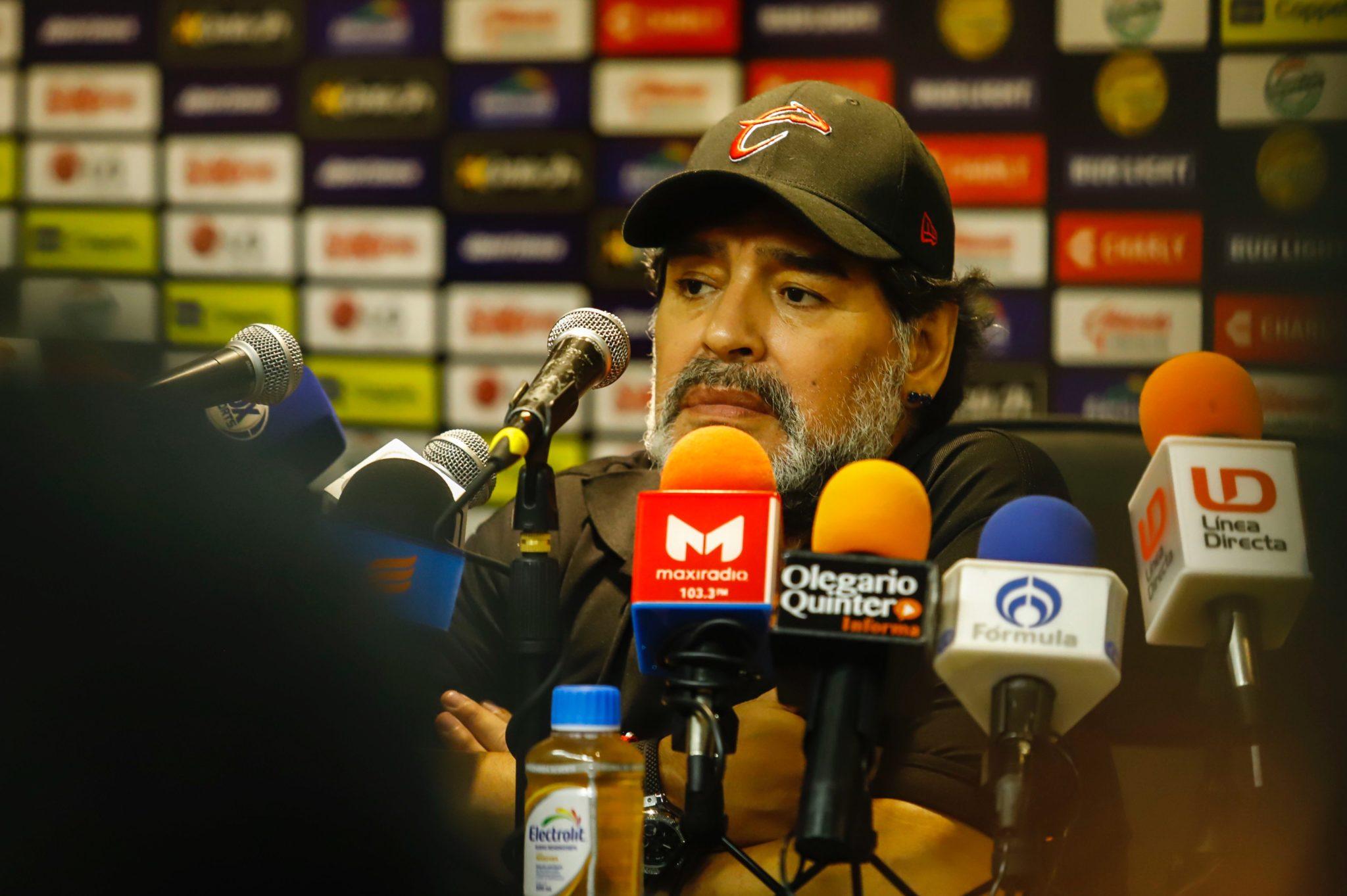 Diego Maradona se despidió de los Dorados. Foto: Twitter Dorados