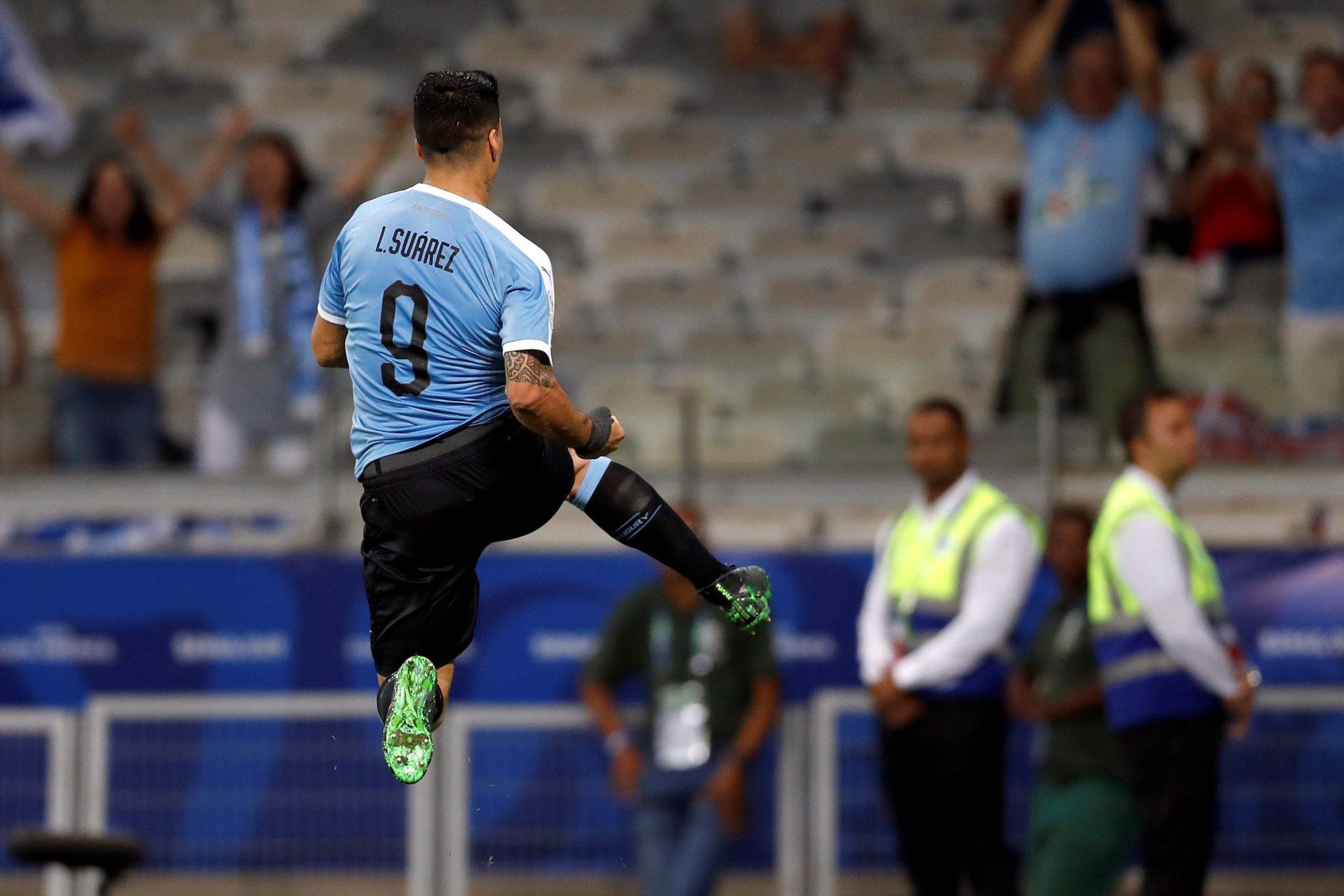 Luis Suárez consiguió uno de los goles ante Ecuador. Foto LaLiga Twitter