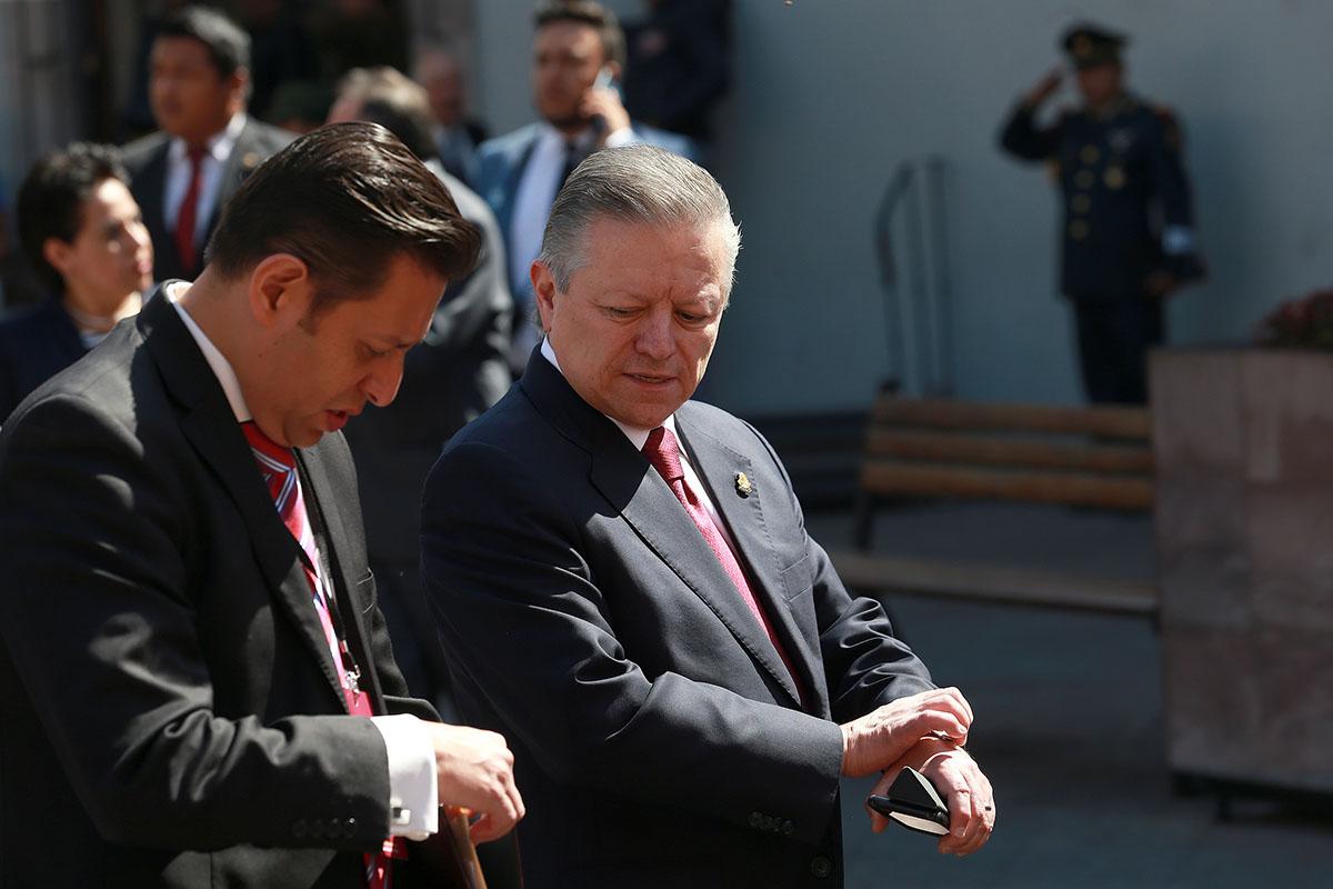 Ministro, Arturo Zaldívar, SCJN, Acto de unidad en defensa de la dignidad de México, Andrés Manuel López Obrador, Tijuana, aranceles,
