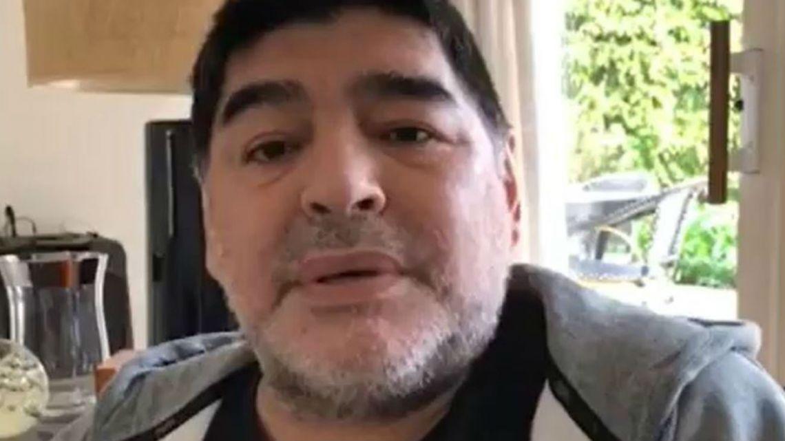 Maradona rechazó estar enfermo. Foto: Twitter