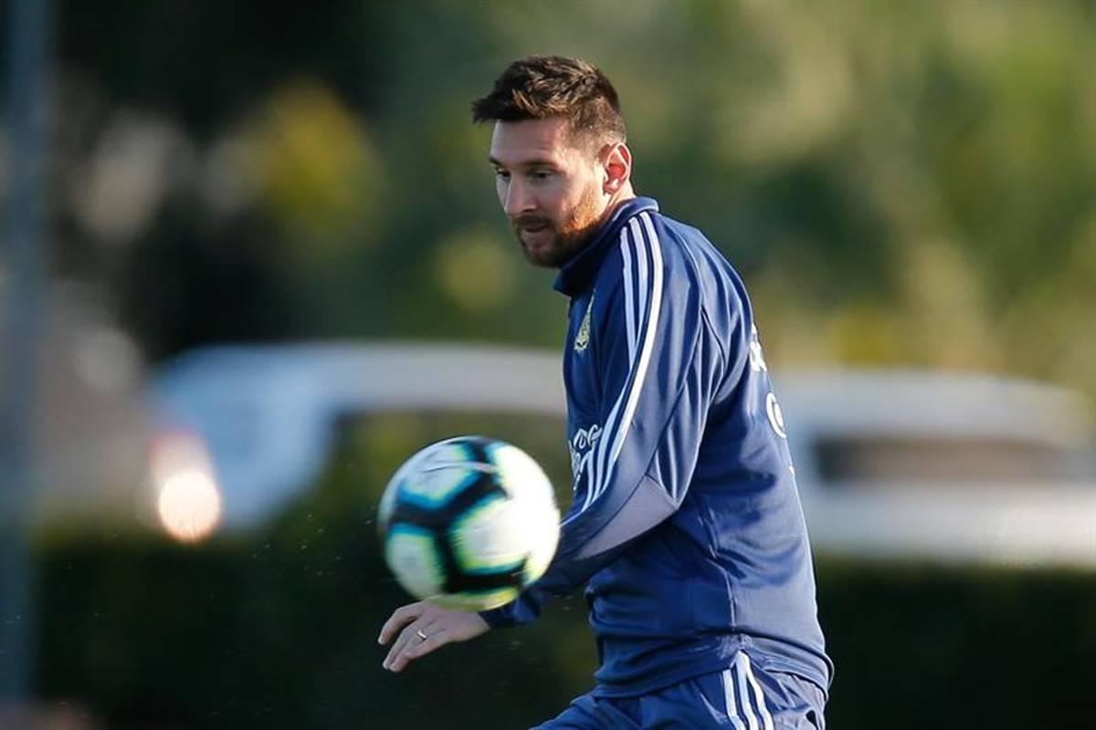 Hijo ce Messi celebra los goles del Real Madrid. Foto: EFE