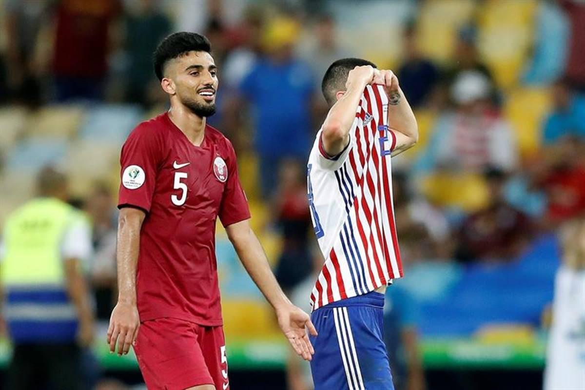 Paraguay no pudo con Catar. Foto: EFE
