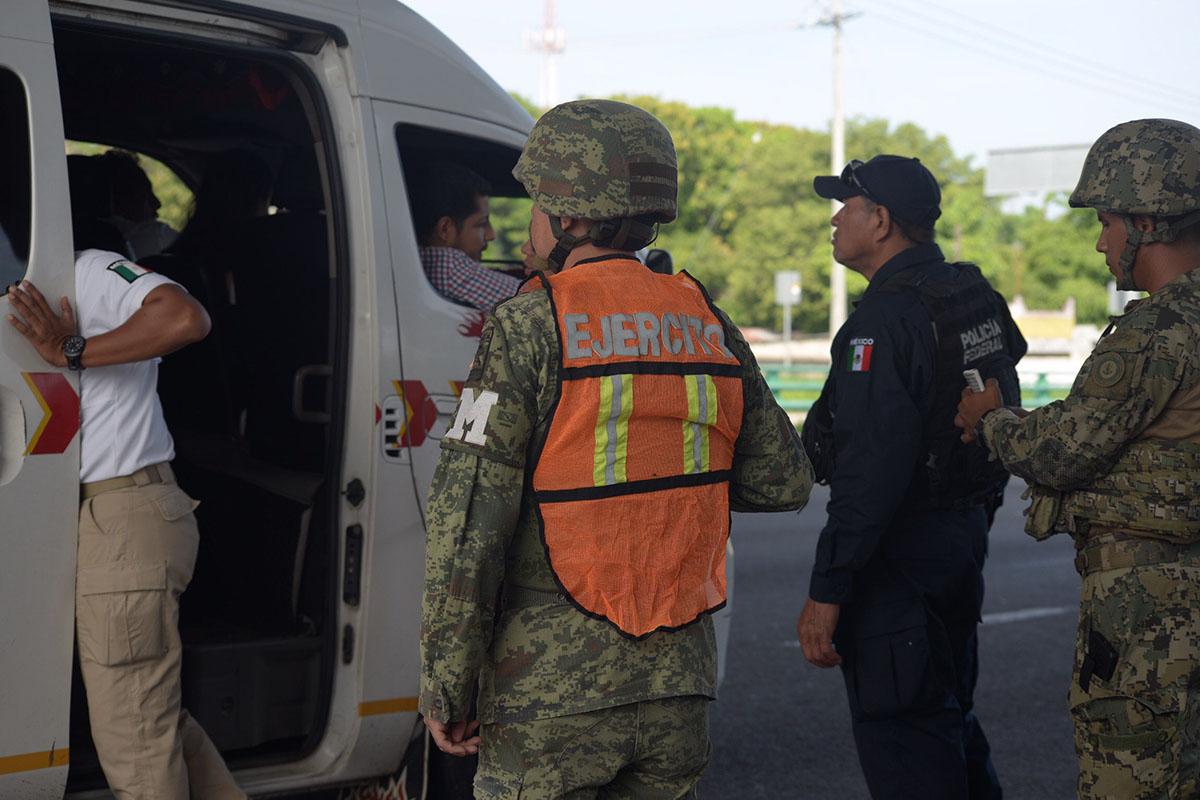 Frontera sur, militarización, Guardia nacional, migrantes, migración,