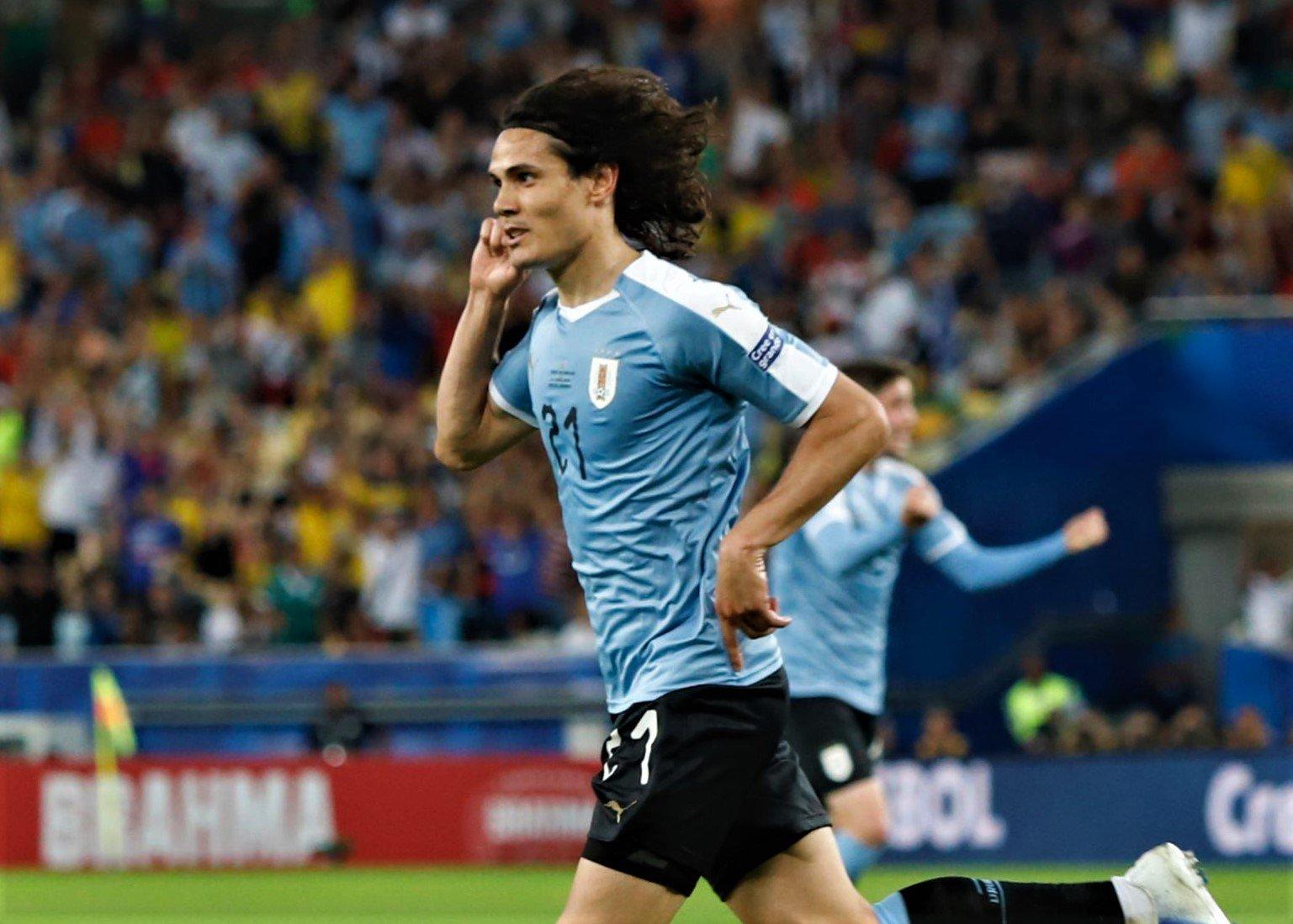 Uruguay le pegó a Chile. Foto: Twitter