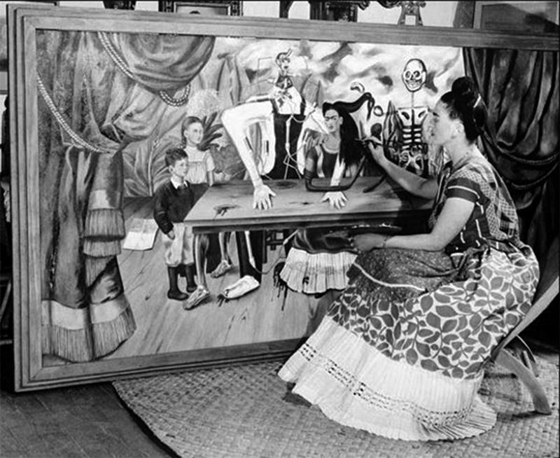"""La obra """"La mesa herida"""", de Frida Kahlo/Foto: UNAM /DGCS"""