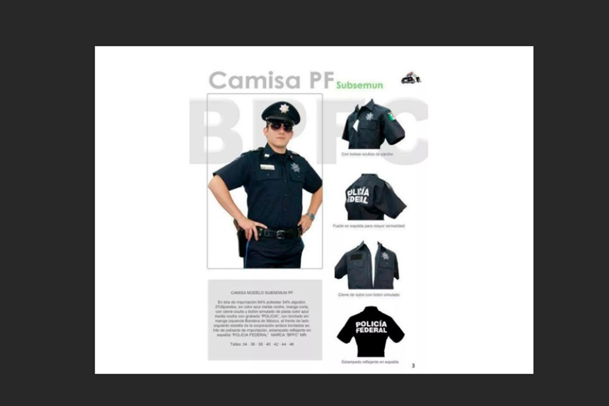Uniformes, policía federal, Guardia Nacional, internet, insignias,