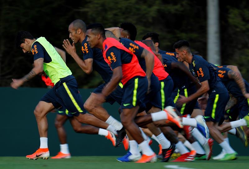 Selección Brasileña con lesionados. Foto: EFE