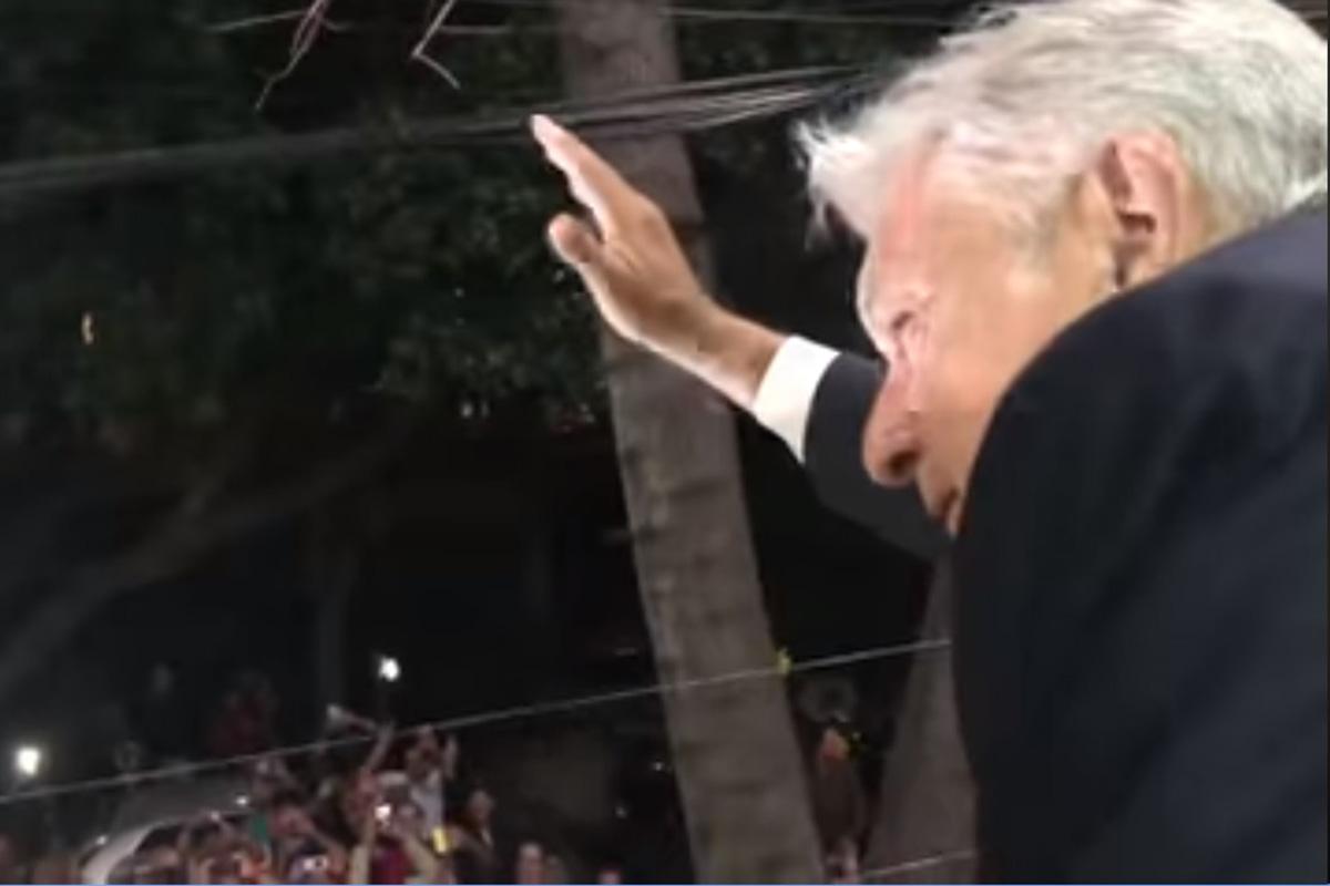 Andrés Manuel López Obrador, Beatriz Gutiérrez Müller, triunfo electoral, 1 de julio 2018, casa campaña, video inédito,