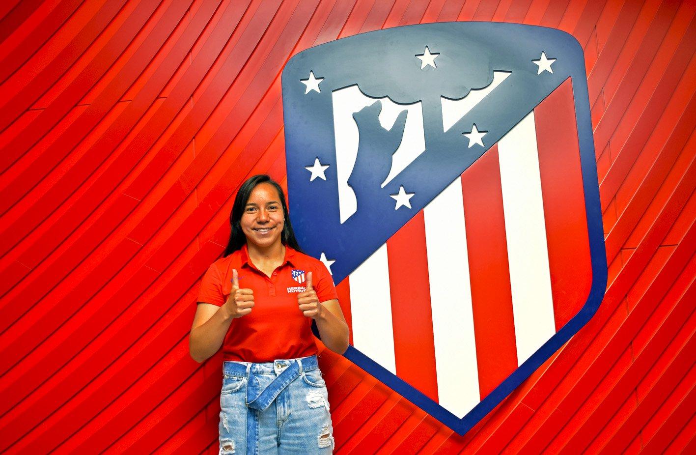 Charlyn Corral llega al Atlético de Madrid. Foto: Twitter