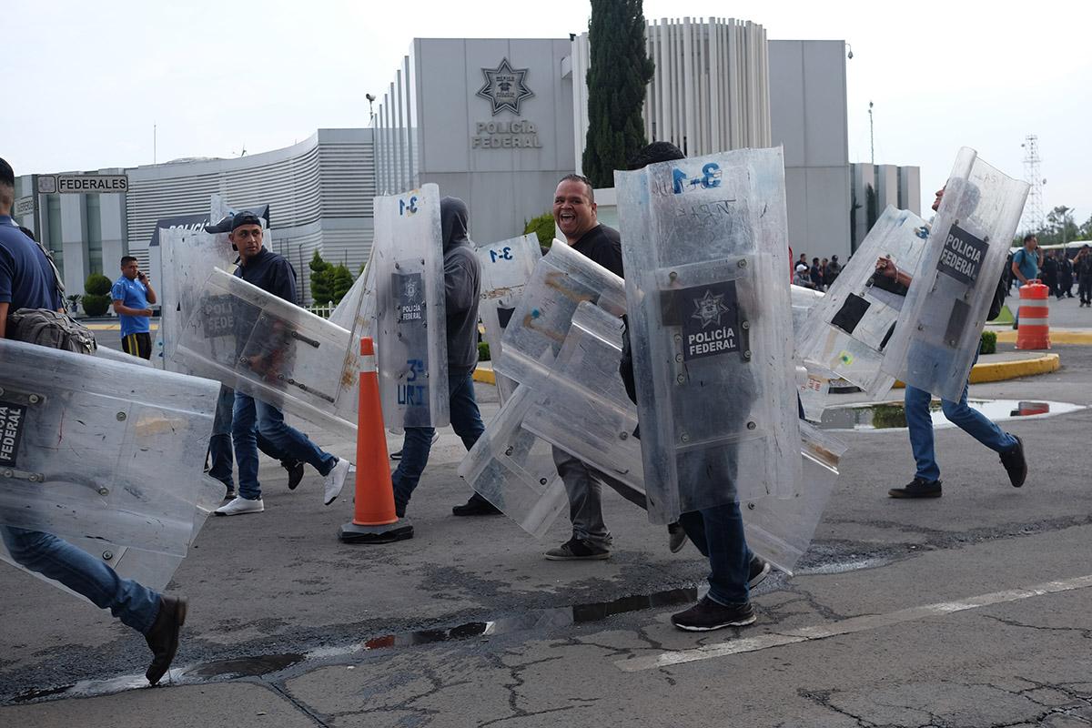 Alfonso Durazo, Policía Federal, Guardia Nacional, paro, protesta,