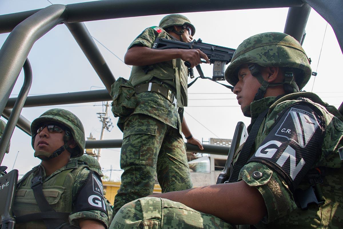 Iztapalapa, Guardia Nacional, militares