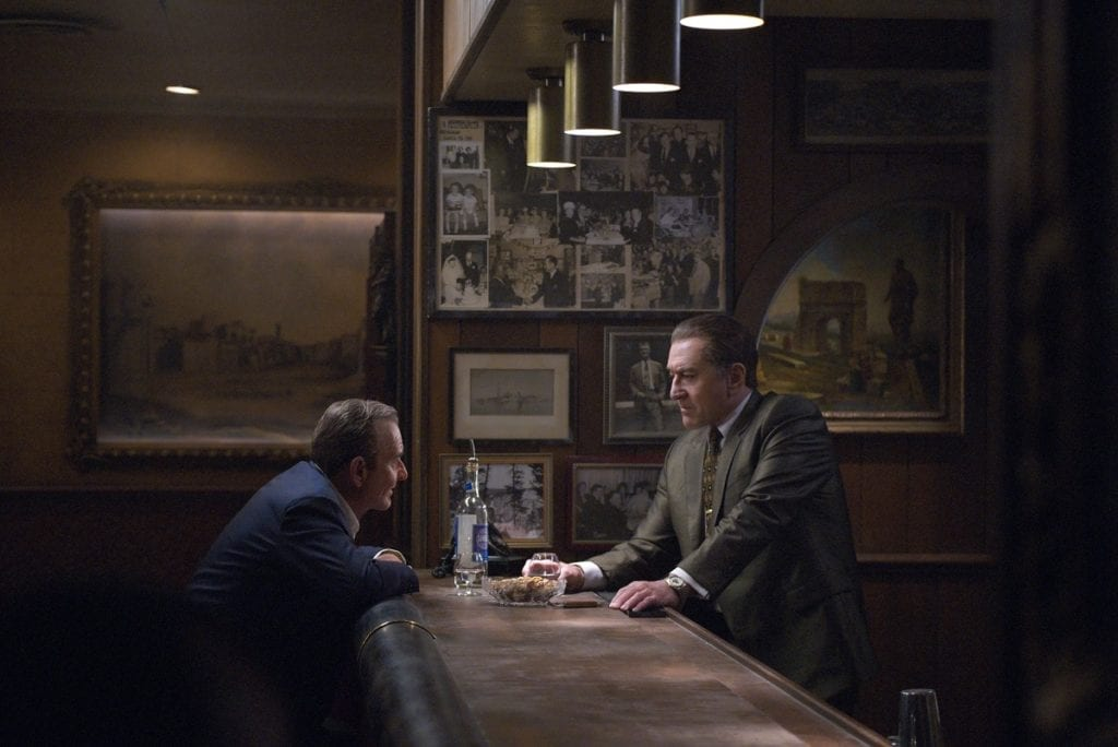 THE IRISHMAN (2019) Joe Pesci (Russell Bufalino) , Robert De Niro (Frank Sheeran)