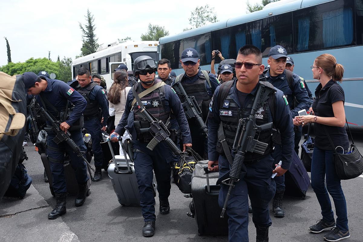Policía Federal, Guardia Nacional, Alfonso Durazo, manifestación,
