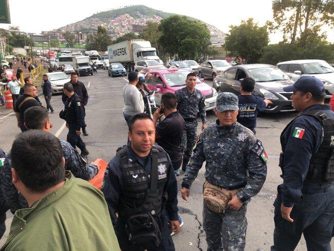 policias federales, México-Pachuca, Guardia Nacional