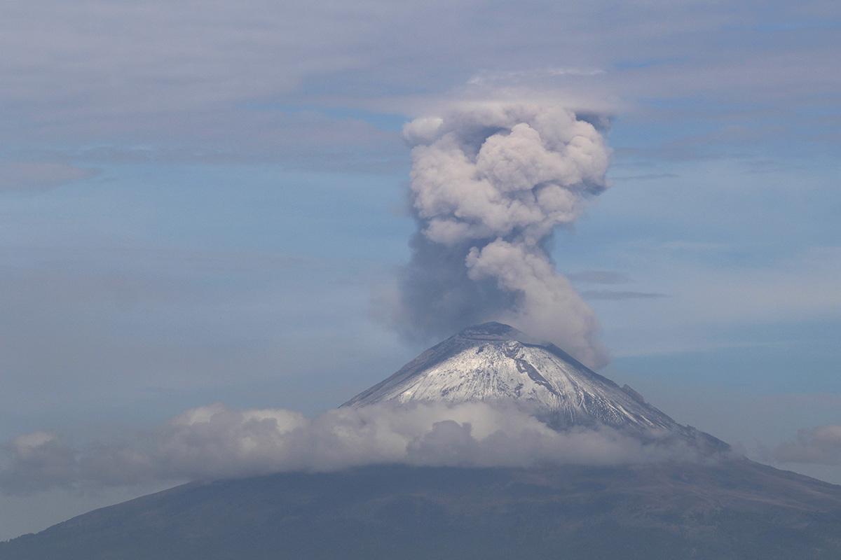 Ceniza, Popocatépetl, Edomex, semáforo amarillo fase 2,