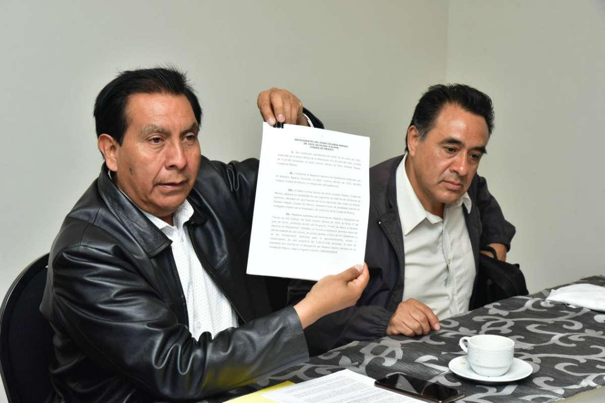 Ejitadarios acusan que están intentando despojarlos del Pico del Águila
