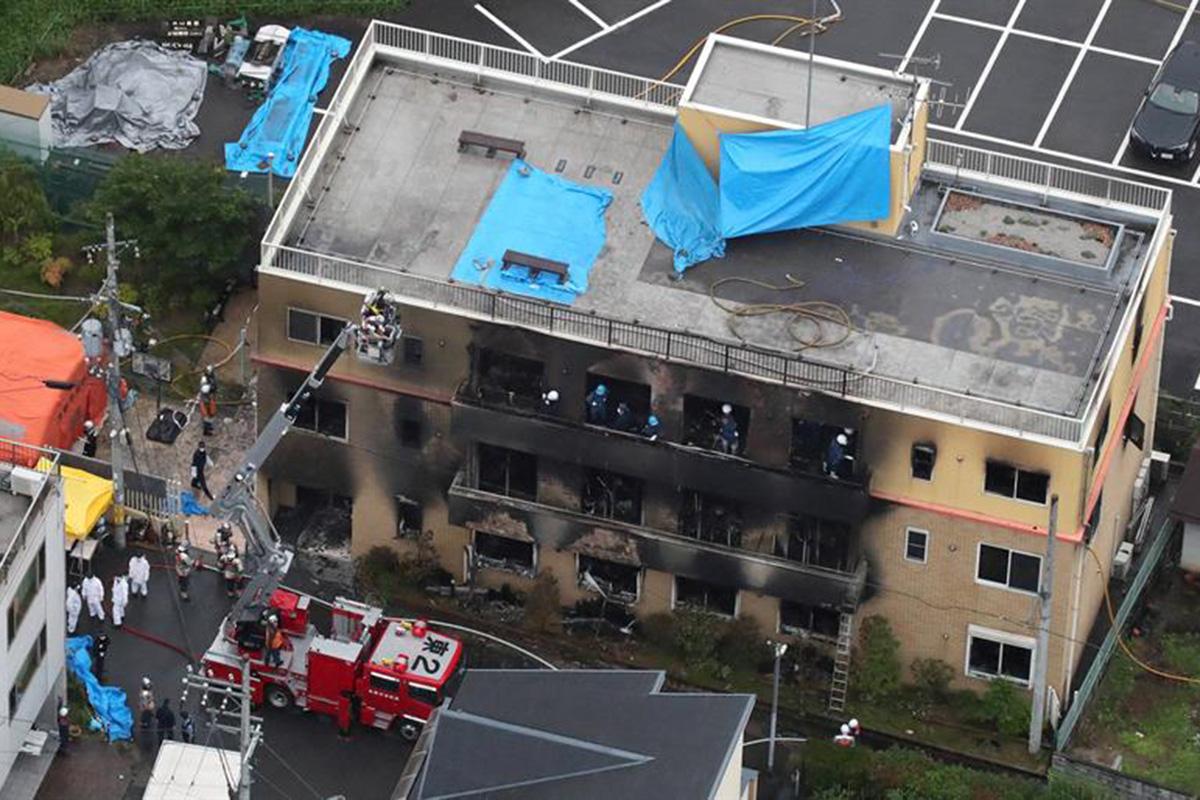 Kyoto Animation, Japón, incendio, edificio, gasolina,