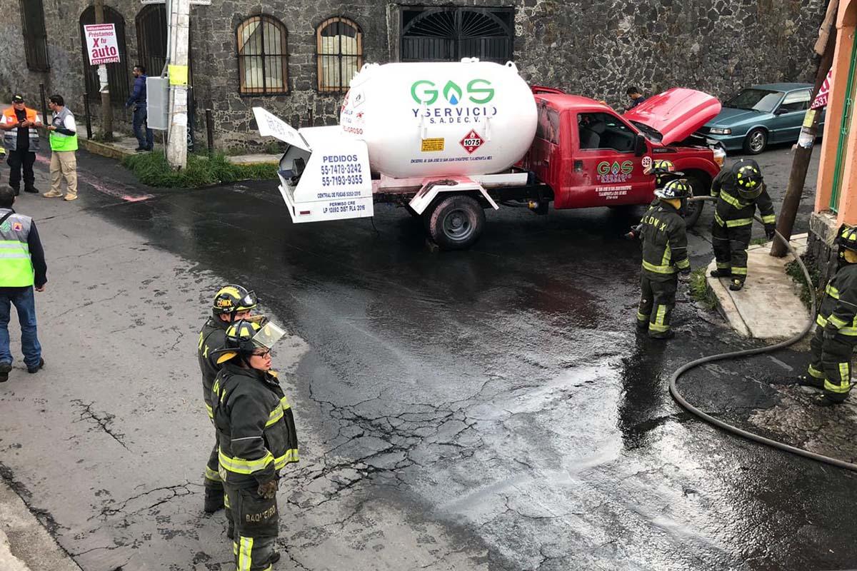 pipa gas, bomberos, Tlalpan, CDMX