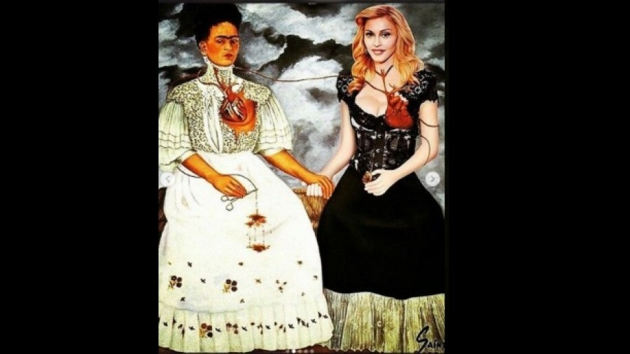 madonna y Frida Kahlo