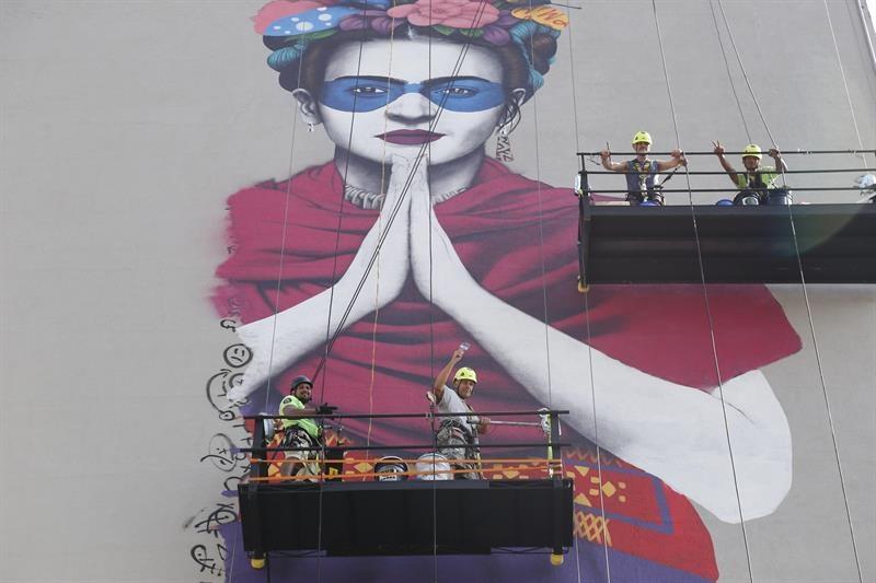 mural de Frida en Guadalajara