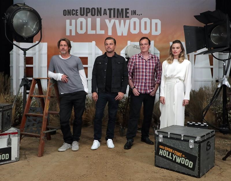 "Elenco y director de ""Once Upon a Time in Hollywood"""