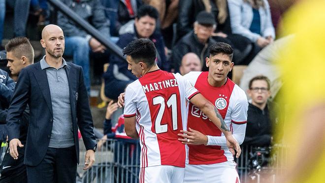 Debuta Álvarez con Ajax, Foto; Twitter