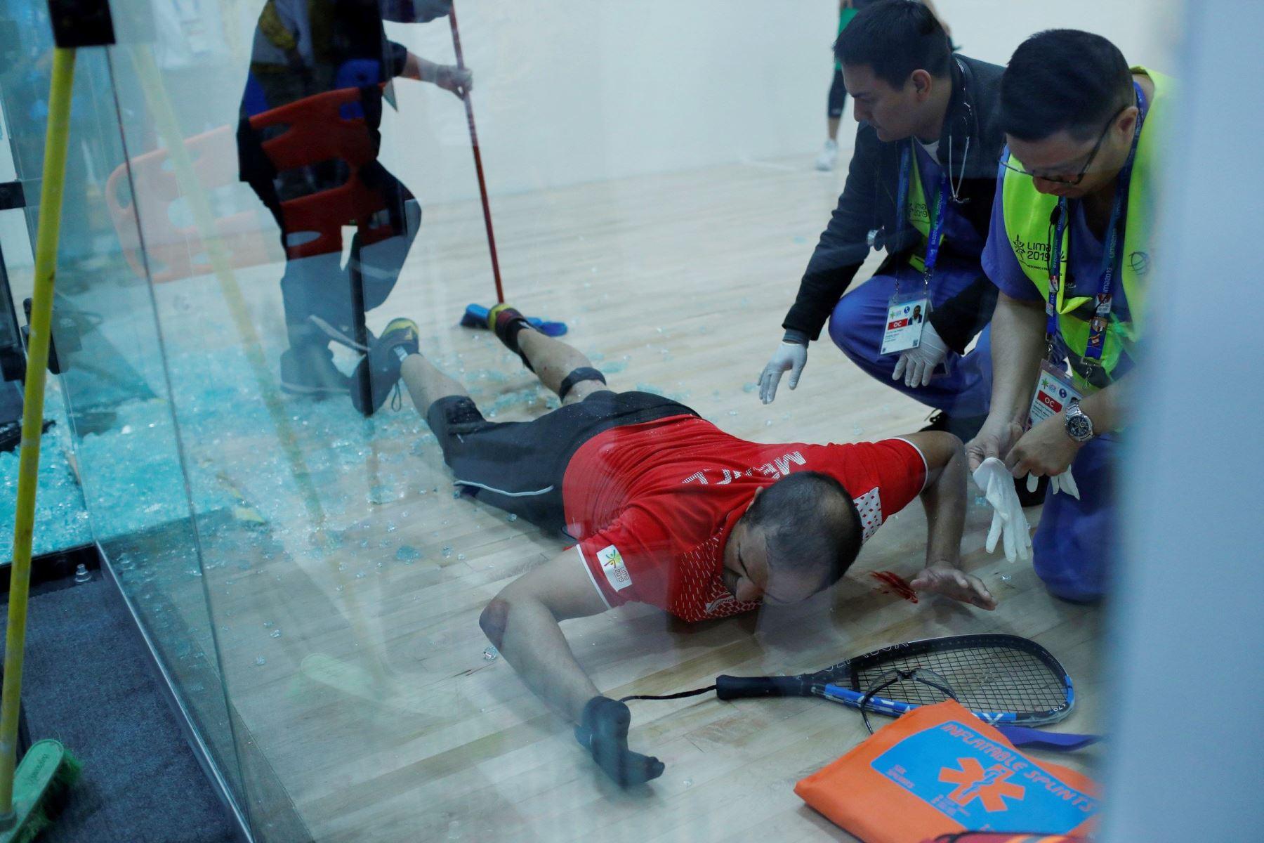 Grave accidente sufrió raquetbolista mexicano. Foto: Twitter