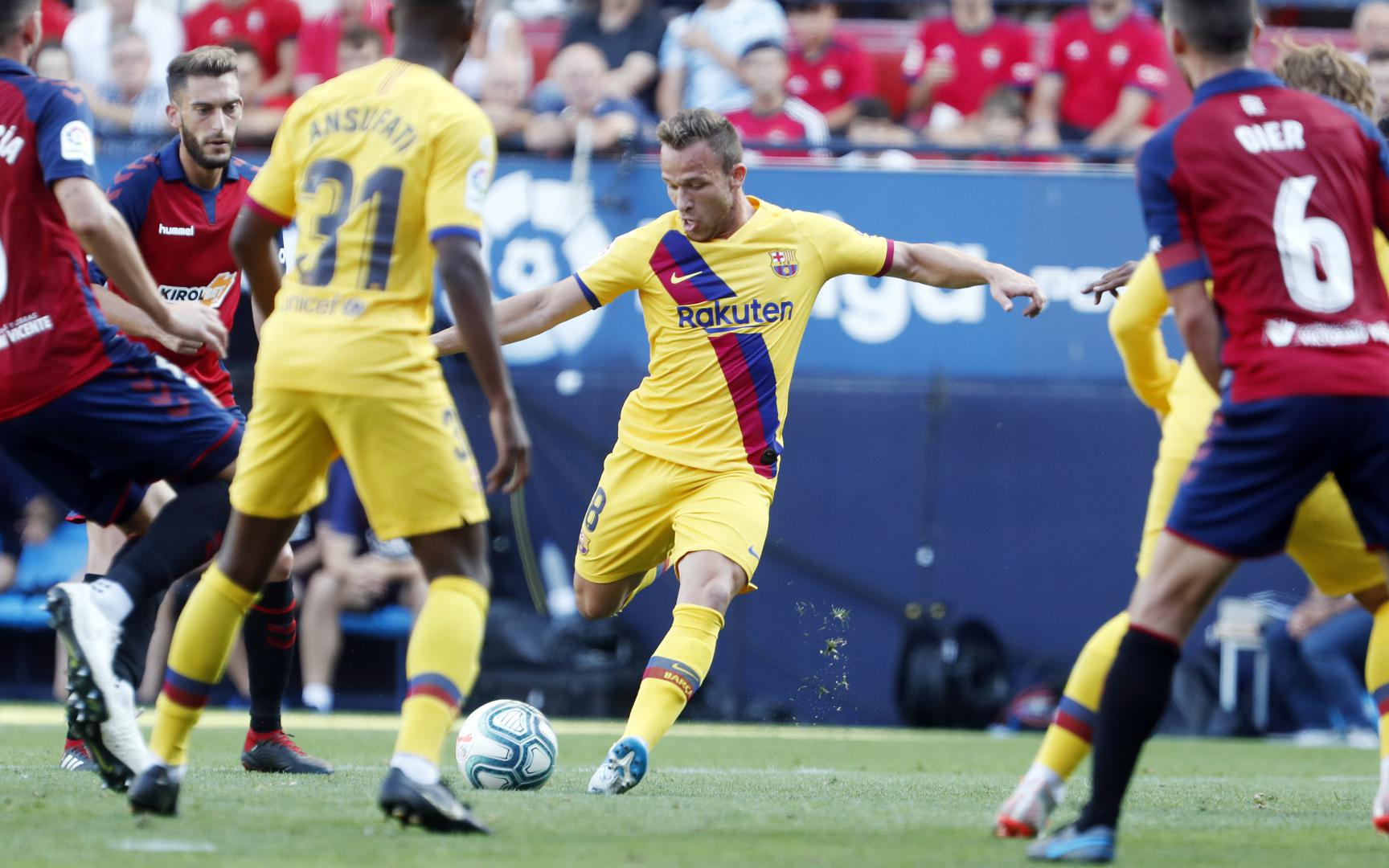 Barcelona igualó con Osasuna. Foto: Twitter