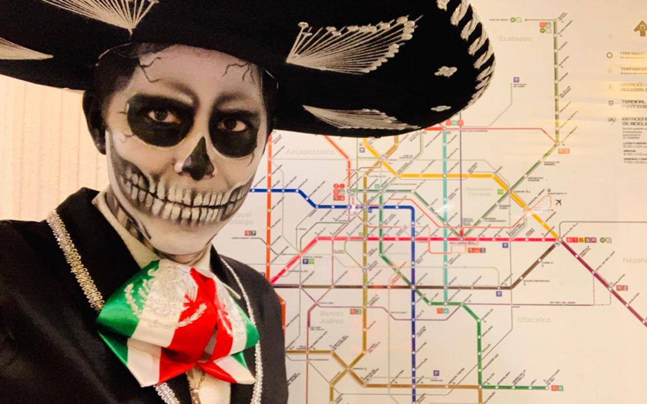 Catrinas, Desfile Día de Muertos, Metro, CDMX,