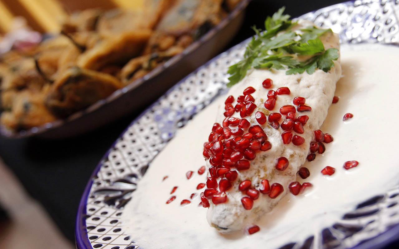 Chiles en nogada, Puebla, sabores, platillos, comida, septiembre,